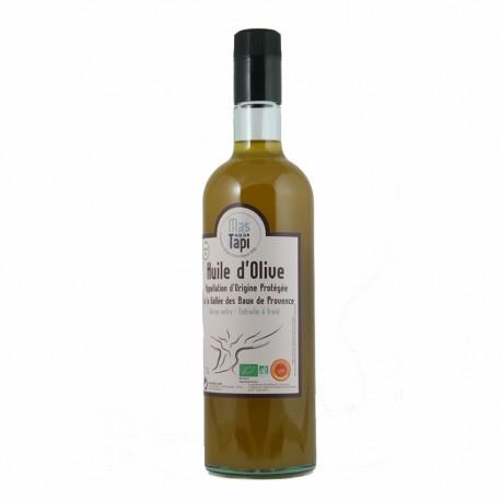 Huile d'olive Fruité vert AOP Vallée des Baux de Provence certifiée FR BIO 01 Origine France 75cl