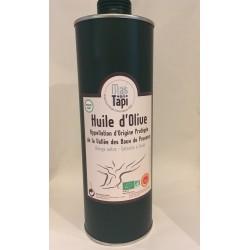Huile d'olive Certifiée agriculture Biologique ECOCERT FR BIO 01 EN fruité vert et en AOP Vallée des Baux de Provence