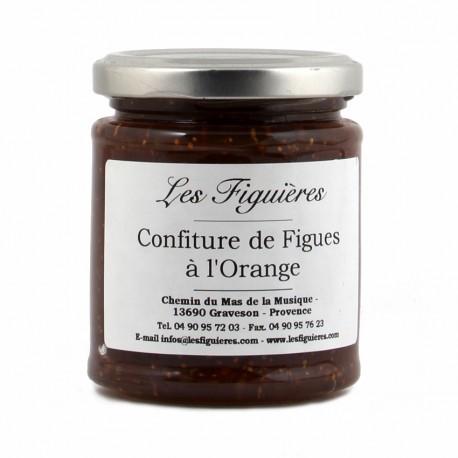 Confiture de figue à l'orange. Pot de 220 G